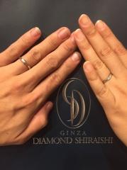 【銀座ダイヤモンドシライシの口コミ】 指輪をつけ慣れない自分でも違和感なく常に付けていられそうだったから。 …