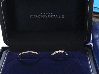 【銀座ダイヤモンドシライシの口コミ】 斜めのウェーブの形を探してて、何店舗か回ったけど、ダイヤモンドと言え…