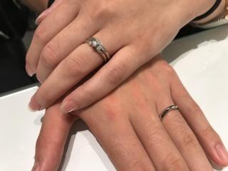 【ROYAL ASSCHER(ロイヤル・アッシャー)の口コミ】 2人で考えて決めました! 実際につけて、感覚的なもので選びました! 婚…