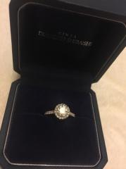 【銀座ダイヤモンドシライシの口コミ】 デザインはこの形がいいなって決めてたのであとはお店選びとダイヤモンド…