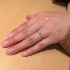 【SIND BAD(シンドバット)の口コミ】 もともと母の婚約指輪を受け継ぐ予定でいたので、リフォームの可能な信頼で…