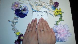 【infinitylove(インフィニティラヴ)の口コミ】 シンプルでお互いの指にしっくりきました! 他の指輪も試着しましたが、可…