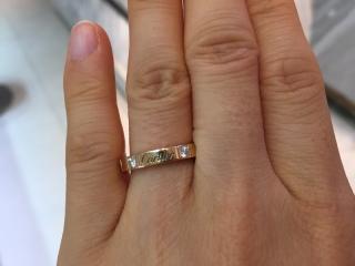 【カルティエ(Cartier)の口コミ】 ラニエールを購入する決め手となったのは、小さなダイヤがところどころに…