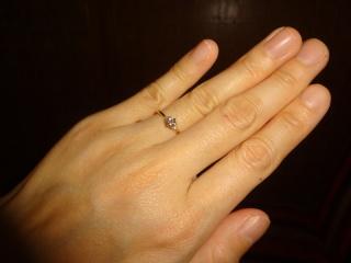 【LUCIE(ルシエ)の口コミ】 元々は婚約指輪の定番というような一粒ダイヤの指輪が欲しいと思っていたの…