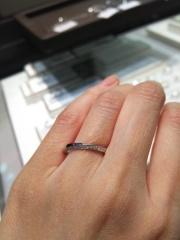 【アイプリモ(I-PRIMO)の口コミ】 プシュケーとルキナを試着しました。 プシュケーは斜めにメレダイヤが入っ…