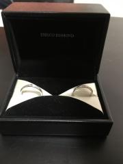 【エクセルコダイヤモンド(EXELCO DIAMOND)の口コミ】 私達が結婚指輪に求めていたのは、一生身につけていく上で派手すぎず可愛…