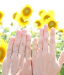 【カルティエ(Cartier)の口コミ】 婚約指輪とおそろいのバレリーナにしました。結婚指輪はシンプルなもので…