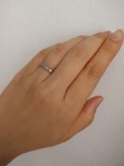 【カルティエ(Cartier)の口コミ】 結婚指輪は石のついていない、うねりのないデザインを希望していました。し…