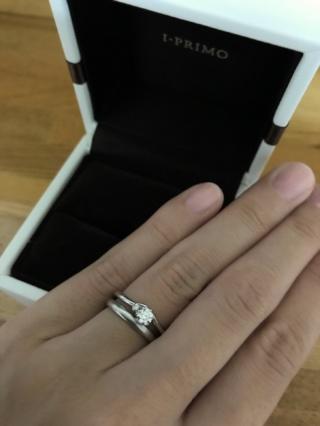 【アイプリモ(I-PRIMO)の口コミ】 本来は婚約指輪は買わない予定でしたが、彼が用意してくれました。 指輪は…