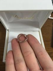 【PILOT BRIDAL(パイロットブライダル)の口コミ】 プラチナ99.9%でも丈夫というところに惹かれて購入しました。指輪の材質っ…