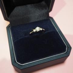 【銀座ダイヤモンドシライシの口コミ】 彼がサプライズでプレゼントをしてくれました。リングは自分で選ぶことが…
