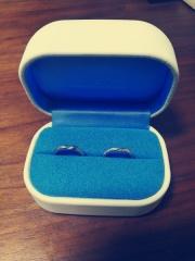 【銀座ダイヤモンドシライシの口コミ】 試着したときにはめ心地が良かったのが決め手です。主人は普段アクセサリ…