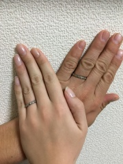 【Makana(マカナ)の口コミ】 元々結婚指輪はハワイアンジュエリーと決めていたので、試着を兼ねて来店…