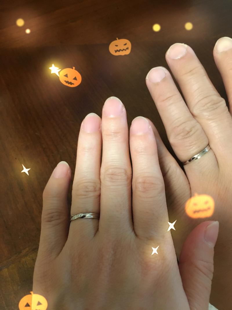 【insembre(インセンブレ)の口コミ】 手の大きい主人!指の細い私にぴったりなデザインでした。上品な輝きとシン…