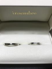 【insembre(インセンブレ)の口コミ】 婚約指輪と重ね付けで店員さんが勧めてくれたのがインセンブレの結婚指輪で…