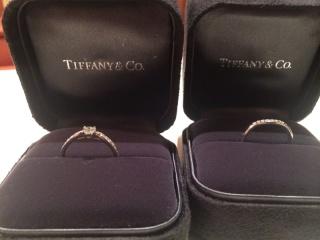 【ティファニー(Tiffany & Co.)の口コミ】 選んだのは旦那ですが、婚約指輪と結婚指輪を重ねて付けたかったのでこの…
