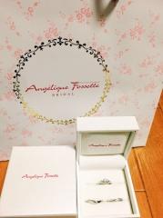 【アンジェリックフォセッテ(Angelique Fossette)の口コミ】 エンゲージリングとマリッジリング3つ合わせて20万いかなくてデザインも…