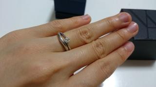 【ヴァンドーム青山(Vendome Aoyama)の口コミ】 予算の中で、シンプルでダイヤのカットが綺麗だと感じたため、選びました。…