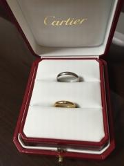 【カルティエ(Cartier)の口コミ】 お互いに結婚指輪に対してこだわりがなく、でもいつも身に着けるものだし…