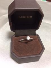 【アイプリモ(I-PRIMO)の口コミ】 彼に任せていたので、私の決め手ではありませんが、「ダイヤが一番大きく見…