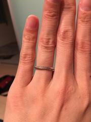 【銀座ダイヤモンドシライシの口コミ】 自分から見てキラキラするのはよくありますが、相手側からダイヤモンドが…