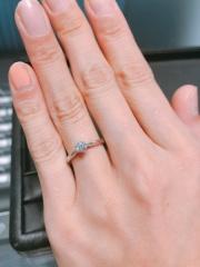 【エクセルコダイヤモンド(EXELCO DIAMOND)の口コミ】 土台、ダイヤモンドと、種類が多すぎて迷いに迷ってしまいましたが、やは…
