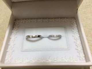 【宝寿堂(ほうじゅどう)の口コミ】 婚約指輪に合う指輪を、ということで選んでいただきました。ハーフエタニ…