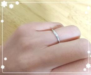 【ヴァンドーム青山(Vendome Aoyama)の口コミ】 婚約指輪は大ぶりのダイヤモンドリングにしたので、結婚指輪はシンプルか…