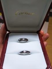 【カルティエ(Cartier)の口コミ】 私たち夫婦は普段装飾品を身に付けないので、数少ない指輪をはめる機会に…