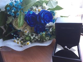 【エクセルコダイヤモンド(EXELCO DIAMOND)の口コミ】 ダイヤモンドの輝きが今まで試着した中で1番綺麗で、付けた瞬間に絶対ここ…