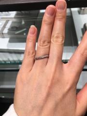 【アイプリモ(I-PRIMO)の口コミ】 流れるようなデザインで、ダイヤモンドがキラッキラでした。 CMで見てから…