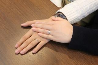 【アトリエミラネーゼの口コミ】 見るたびにわくわくする結婚指輪が欲しかった私と、シンプルなデザインを…