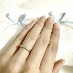 【Veramore(ヴェラモーレ)の口コミ】 結婚指輪はピンクゴールドが良いという私のこだわりがあり、彼と探してい…