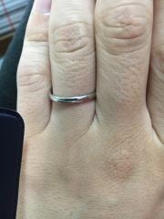 【銀座ダイヤモンドシライシの口コミ】 指に違和感なく装着でき、角張っていなかったので、付け心地が良かった。…