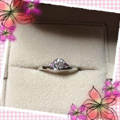 【TRECENTI(トレセンテ)の口コミ】 ピンク色が好きなので、指輪をお店に見に行く前からピンクダイヤの入った…