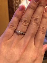 【ティファニー(Tiffany & Co.)の口コミ】 一般的過ぎない、でもシンプルな婚約指輪が良かった。石の大きさなどはそ…