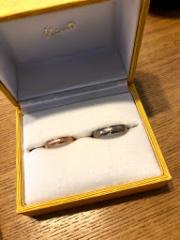 【ケイウノ ブライダル(K.UNO BRIDAL)の口コミ】 婚約指輪に引き続き、結婚指輪もデザインしていただくことに、会社の先輩…