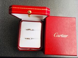 【カルティエ(Cartier)の口コミ】 結婚指輪は長くつけるものなので飽きのこないシンプルな形を優先して選び…