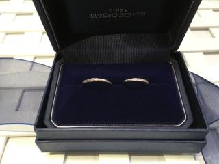【銀座ダイヤモンドシライシの口コミ】 婚約指輪と重ね付けがしたかったので、やっぱりセットが一番キレイでした…