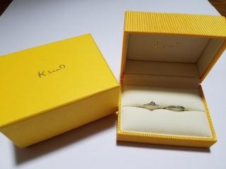 【ケイウノ ブライダル(K.UNO BRIDAL)の口コミ】 婚約指輪がk.unoだったため こうしてほしいという要望を伝えて 作ってもら…