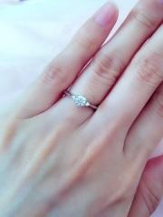 【アイプリモ(I-PRIMO)の口コミ】 シンプルだけど、可愛い指輪を探していたところ、店員さんに勧められたもの…