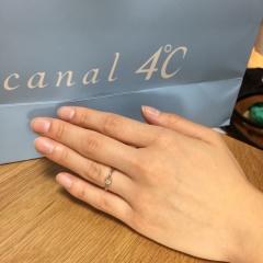 【canal4℃(カナルヨンドシー)の口コミ】 指がゴツゴツしていて太いことが昔からコンプレックスでしたが、カーブが…