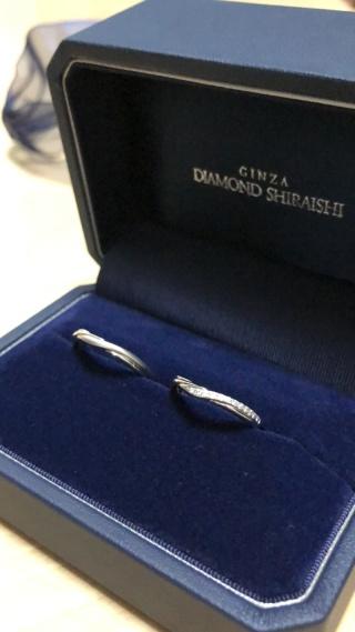 【銀座ダイヤモンドシライシの口コミ】 決め手は奥さんが好きなデザインのものを見つけれたのでそれにした感じで…