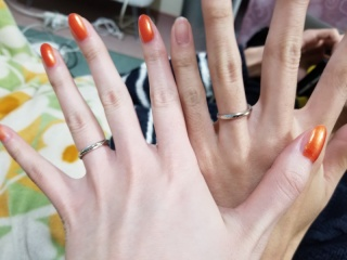 【銀座ダイヤモンドシライシの口コミ】 彼が婚約指輪を探してくれたところに、式前に2人で見に行って一緒に決めま…