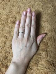 【ティファニー(Tiffany & Co.)の口コミ】 指輪購入当時、私がちょうど妊娠中だったこともあり、まずは赤ちゃんがふ…