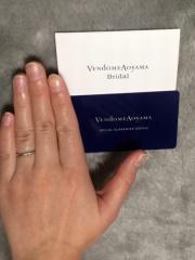 【ヴァンドーム青山(Vendome Aoyama)の口コミ】 シンプルで細身の飽きがこないデザインを探していましたが、Vendome Aoyam…