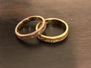【ケイウノ ブライダル(K.UNO BRIDAL)の口コミ】 再婚同士なのもあり、式は挙げないと決めたため、結婚指輪はこだわって納…