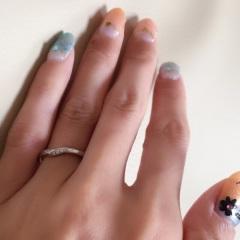 【4℃(ヨンドシー)の口コミ】 私は指のサイズが2号で、こちらの商品は3号からしかお造りすることができ…