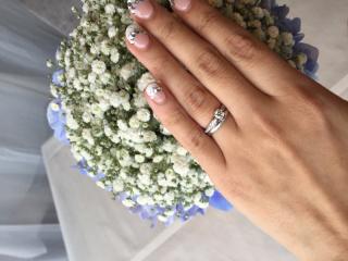 【ティファニー(Tiffany & Co.)の口コミ】 手が小さくて指が短めなので細身の指輪にしたいと思っていてこちらにしま…