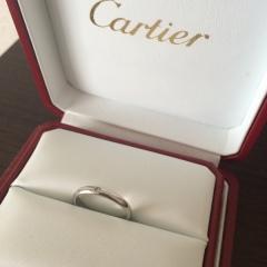【カルティエ(Cartier)の口コミ】 毎日つけていられるデザインで、違和感なくはめられるもの。エンゲージリン…